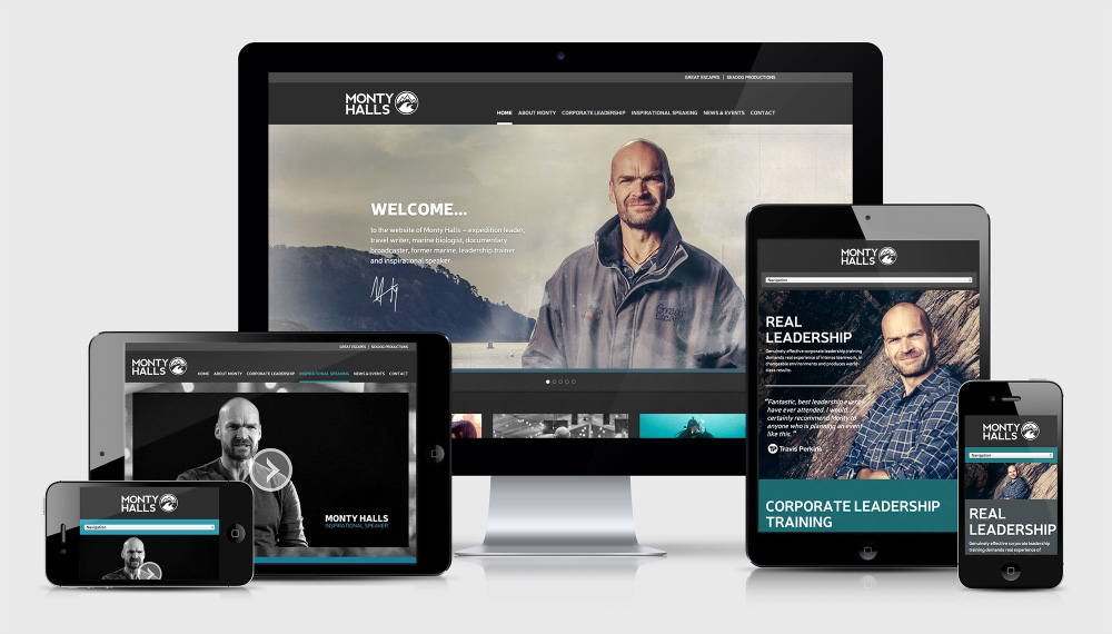Personal branding and website launch – Monty Halls