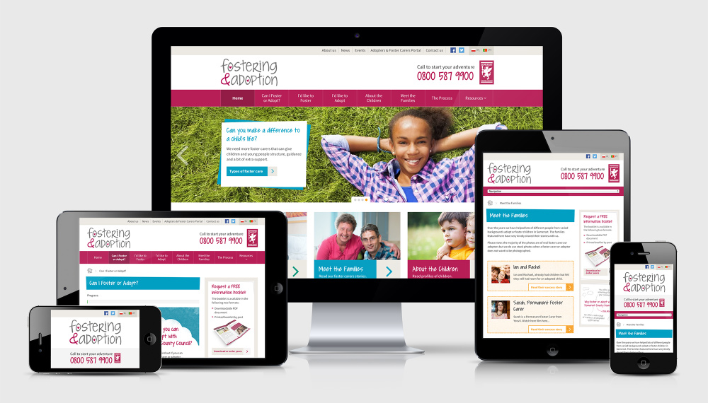 Foster and adoption in somerset responsive screens
