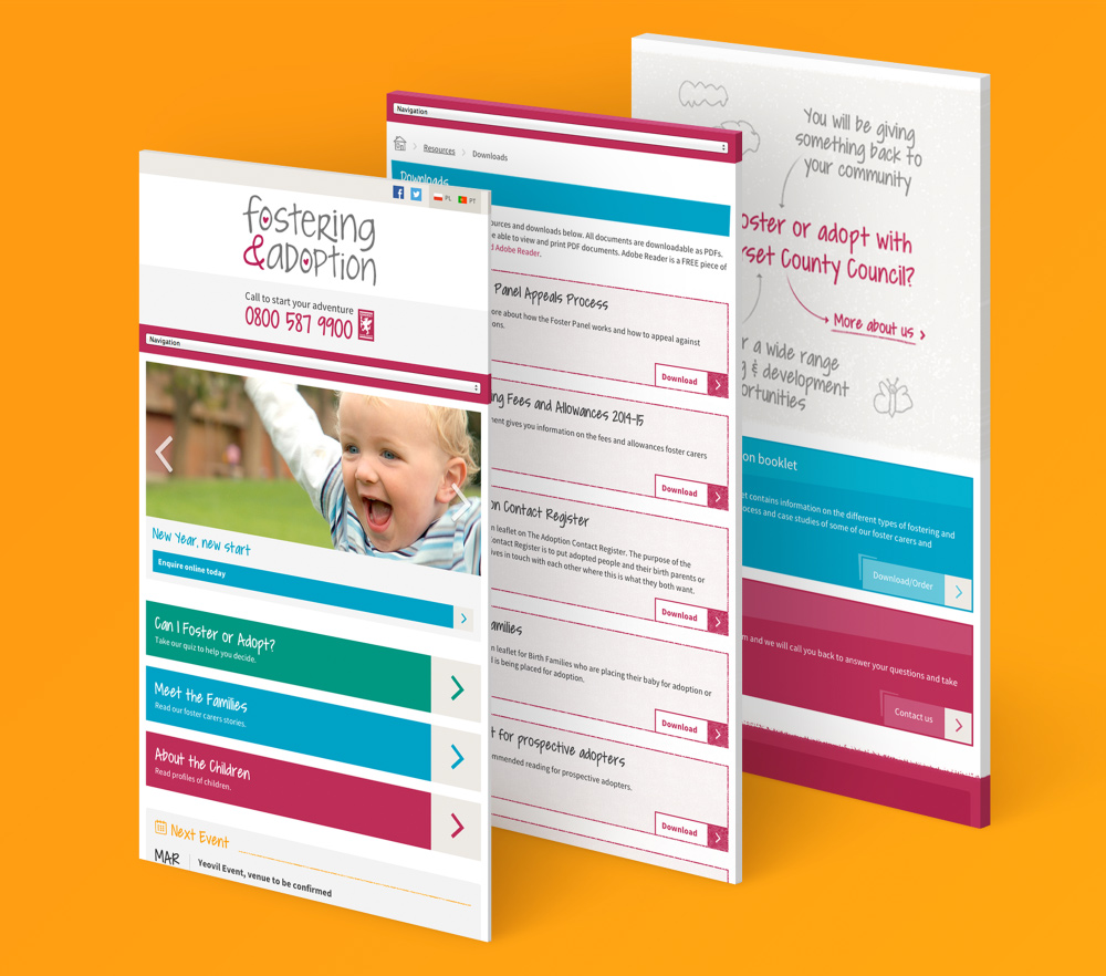 Foster and adoption in somerset mobile images