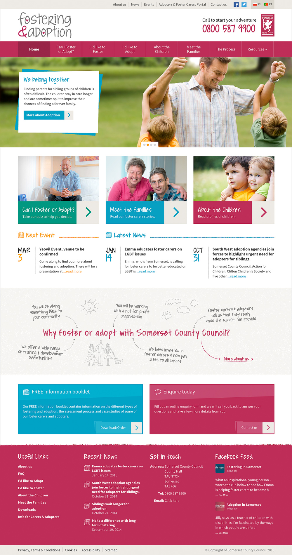 Foster and adoption in somerset home page