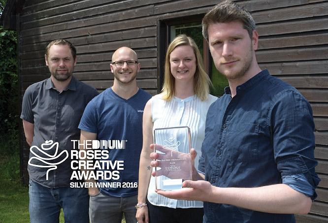 Silver winners at esteemed Roses Creative awards