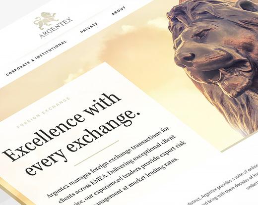 Argentex Website Design