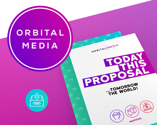 Orbital Media brand identity
