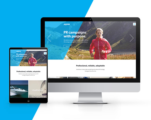 ADPR brand refresh, web design and marketing communications
