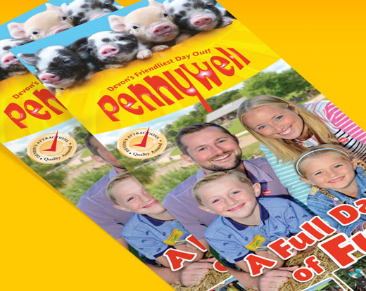 Pennywell Farm web and print design