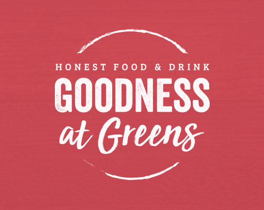 Goodness at Greens branding