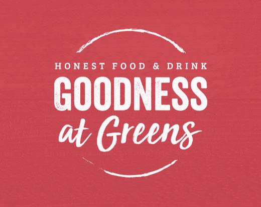 Goodness at Greens branding