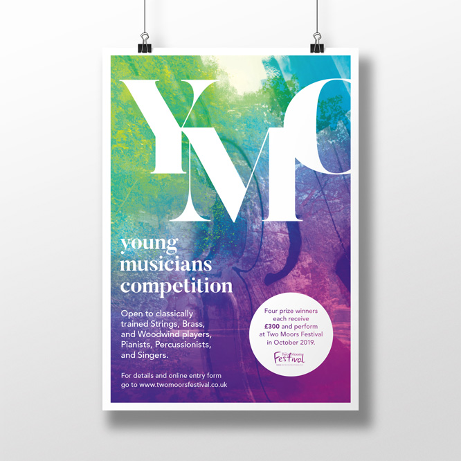 Two Moors Festival Young Musicians Competition Poster