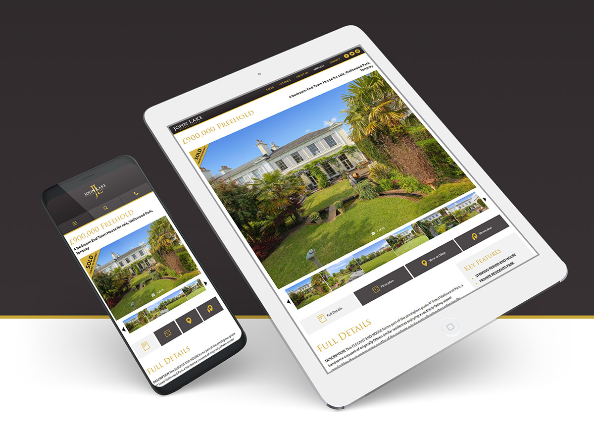 John Lake Estate Agents - Website Re-Design