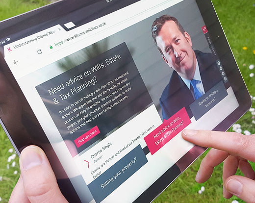 Kitsons Solicitors website
