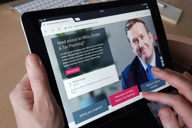 New look website design for Kitsons Solicitors