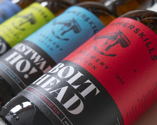 Summerskills Brewery packaging design